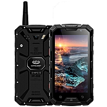 Conquest S8, 3GB+32GB, Walkie Talkie Function, 6000mAh Battery, IP68 Waterproof Dustproof Shockproof Anti-pressure Explosion-proof, Fingerprint Identification, 5.0 inch, Android 7.0 MTK6753 Octa Core up to 1.5GHz, Network: 4G, NFC, OTG, IR(Black)