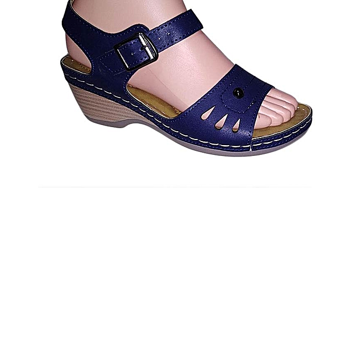 64f90fb2f Generic New navy blue Wedge Sandals Women Shoes @ Best Price Online ...