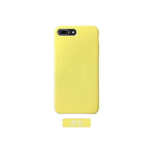 brand new 04725 719c2 IPhoneX Official Matte Phone Case Samsung S8 S9 Liquid Soft Silicone  Protective Cover Yellow