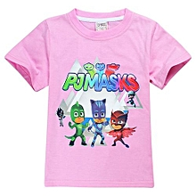 1-10Yrs Baby Kids' 95-145cm Body Height Cotton T-shirts(Color:Pink)