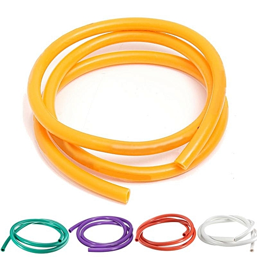 5PCS Universal Motorcycle Bike 1M Petrol Fuel Hose Gas Oil Pipe Tube 5mm  I/D 8mm O/D Yellow