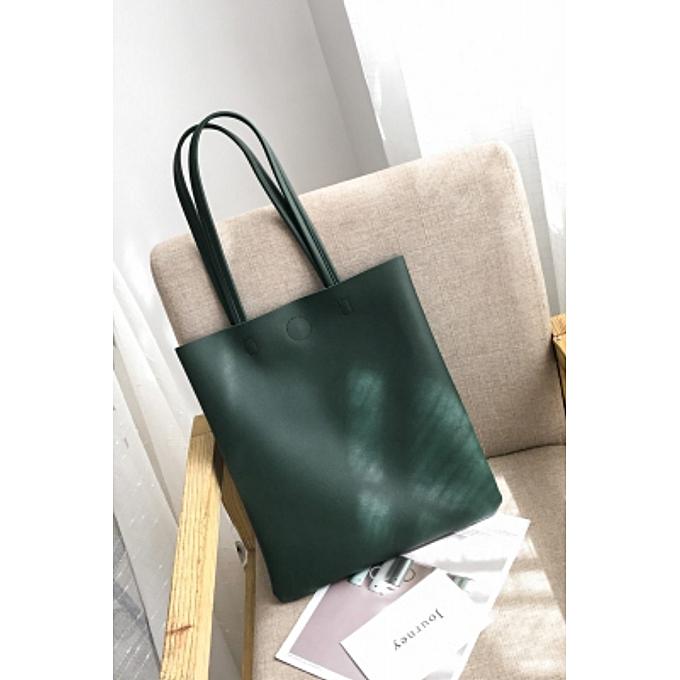 Dark Green College Wind Wild Bag 2018 Spring New Korean Fashion Shoulder Tide