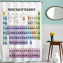Fabric Waterproof Bathroom Shower Curtain Panel Sheer Decor With Hooks Set C-Multicolor
