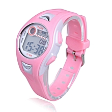 Children Boys Girls Swimming Sports Digital Wrist Watch Waterproof Pink