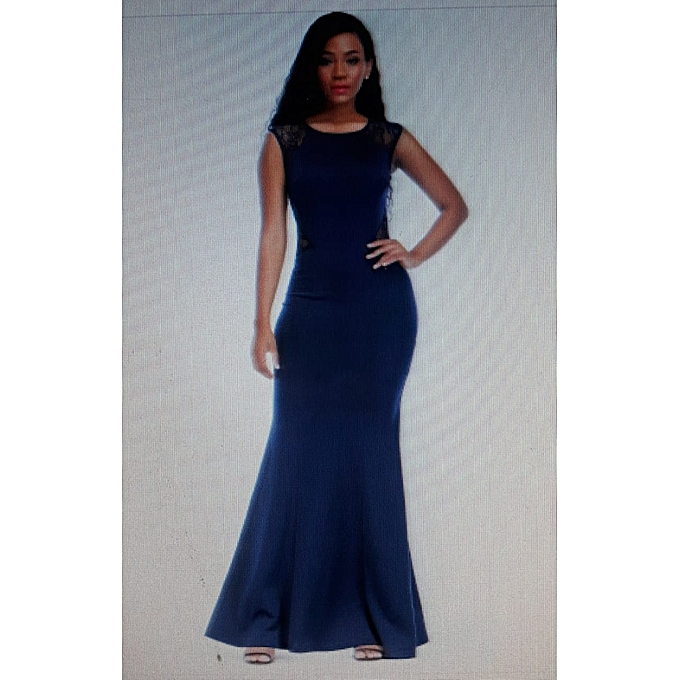 Buy Generic Sleeveless Long Evening Dress with Lace @ Best Price ...