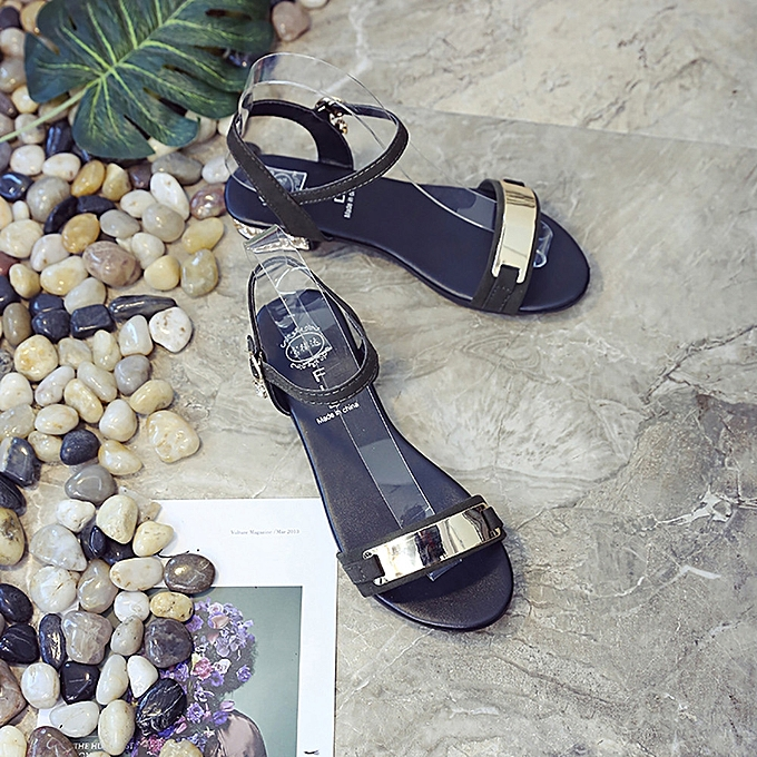 b6647090fe7599 Generic Women s Summer Sandals Shoes Peep-toe Low Shoes Roman Sandals  Ladies Flip Flops A1