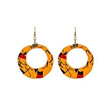 Yellow Circular Shape(Large) Earrings