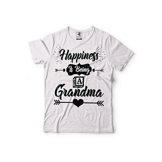 Happiness Grandma T Shirt New Baby Idea Gift For Grandmother
