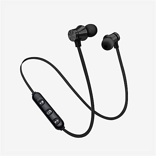 e244dde09c6 Generic Magnetic Wireless Headphone Bluetooth Earphone Sport Wireless  Bluetooth Headset With Mic For iPhone 7 Xiaomi Mi Earphone(#Black)