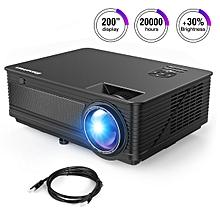 "LED Projector 120"" HD Video Display - EU Plug - Black"