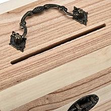 Generic Wooden Piggy Bank Safe Money Box Savings With Lock Wood Carving Handmade