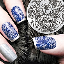 DIY Fashion Nail Art Stamping Plate Manicure Stamp Template Stamping Tool D