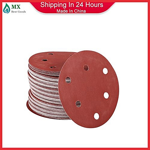Back To Search Resultstools 100% Quality 100pcs 5 125mm With 6 Hole White Sander Sand Paper Sanding Disc Sanding Sheets
