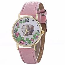 Women Creative Pattern Quartz Watch Leather Strap Belt Table Watch PK