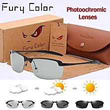 Photochromic Glasses Chameleon Polarized Sunglasse Men Women All Day Change Color For Snow Light Rays Daylight Oculus De Sol - black