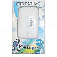 Power Bank 6600mAh - White