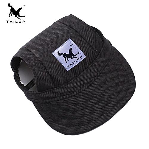 Generic Home-Fashion Dog Cat Pet Baseball Visor Hat Cap With Ear Holes  Adjustable Strap Black 0e18cfc7c7b