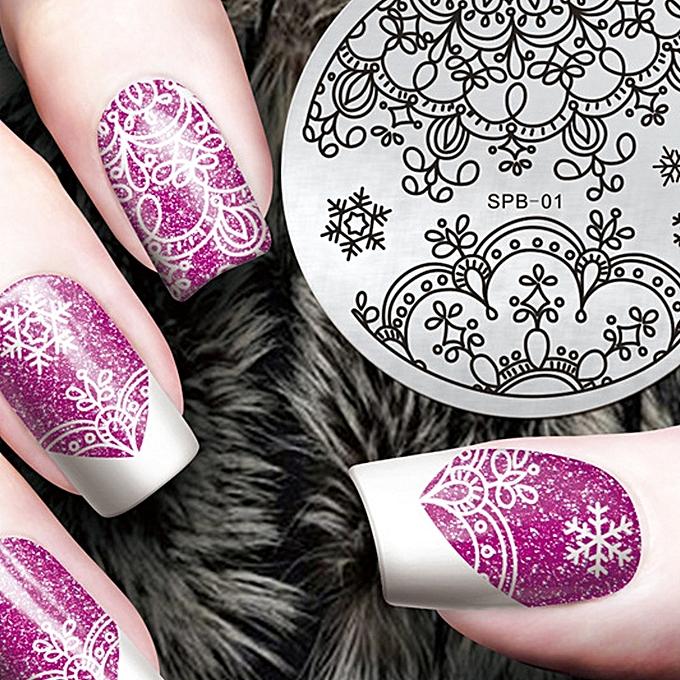 Buy Muyi Diy Fashion Nail Art Stamping Plate Manicure Stamp Template