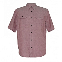 Rouge Pink Mens Short Sleeved Shirts
