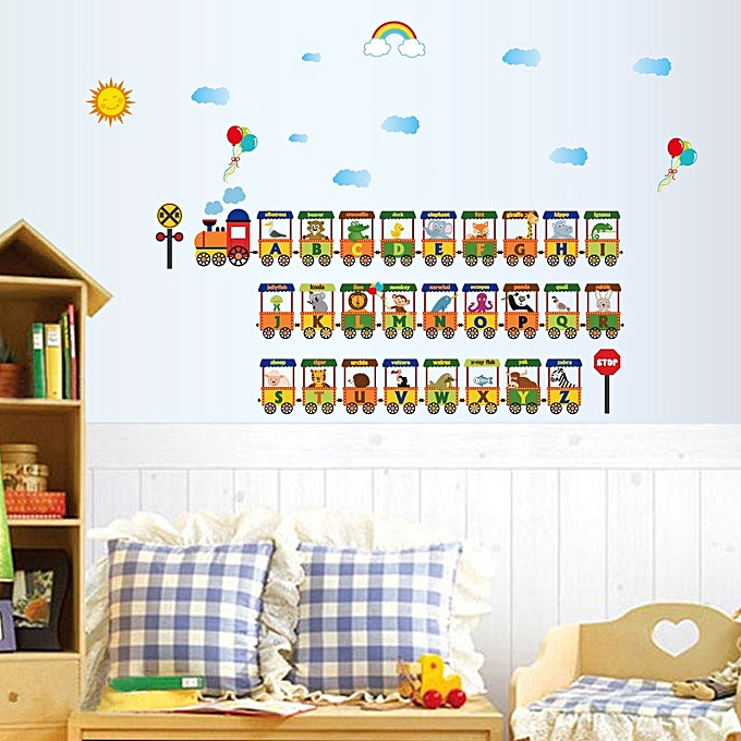 Diy Alphabet Train Removable Room Home Decor Wall Stickers Decal Multicolor Jumia Kenya