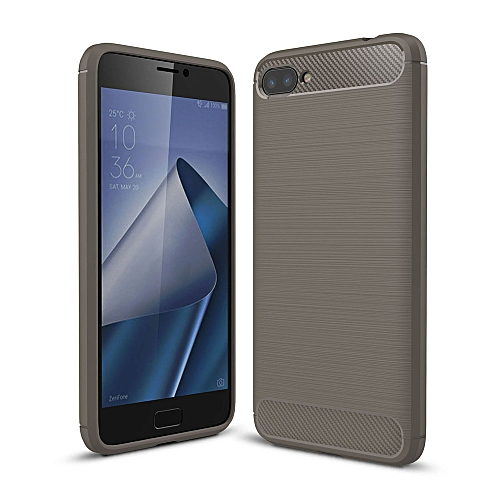 promo code 8b692 40384 Case For Asus Zenfone 4 Max ZC520KL TPU Soft Carbon Fiber Silicone Brushed  Anti-knock Phone Back Cover For Asus ZC520KL (Grey)