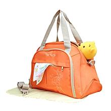 Multifunctional Diaper Bag - orange .