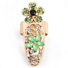 Women Jewelry Decorative Joint Drill Bow Crown Armor Nails Ring - Colormix