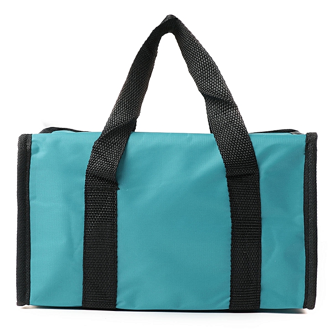 ... Waterproof Thermal Cooler Insulated Lunch Box Storage Picnic Large Bag Foldable Blue