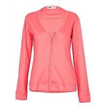 Pink Long Sleeved 2 Piece Women's Top