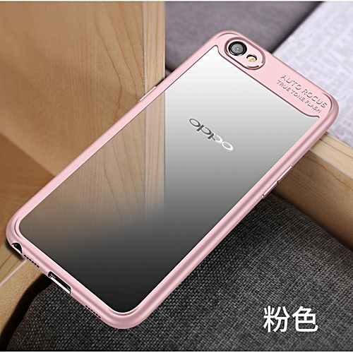 size 40 8d1a4 68b62 Hawkeye Slim Anti Slip Soft TPU + Crystal Clear Acrylic PC Transparent Back  Cover Case For Oppo A37 271330 c-1 (Color:Main Picture)