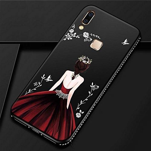 Generic For Vivo V9 Youth Case Goddess Girl Diamond Back Cover Y85 Secret Garden Glitter TPU Silicone Phone Cases For BBK for Vivo V9 Youth