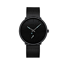 30 Meter Waterproofing Super Thin Men's Business Watch Black Leisure Wristwatch