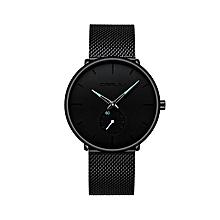 30 Meter Waterproofing Super Thin Men's Business Watch Black Leisure Wristwatch
