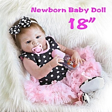 "18"" Handmade Reborn Baby Dolls Realistic Newborn Lifelike Vinyl Girl Baby Doll Toys"