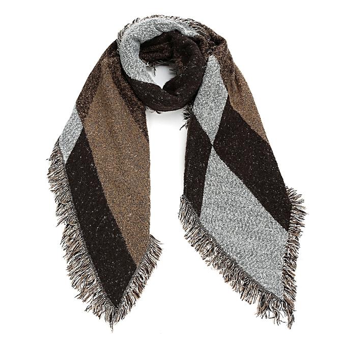 Fashion Womens Winter Knitted Tartan Plaid Blanket Shawl Scarf ... 627c3caa59