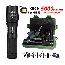 FFY 5000LM X800 Zoomable XM-T6 led flashlight torch lightingDefensive tactical flashlight night light