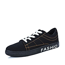 Men Skateboarding Shoes Fashion Sport Trainer-Black/Gold