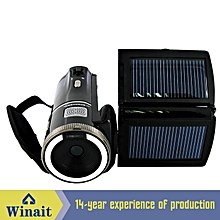 Winait 8X digital zoom HDV-T92 digital video camera with dual solar panel as battery charger KANWORLD
