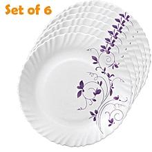 6Pcs Diva Classique Dinner Plates - Dazzle Purple.