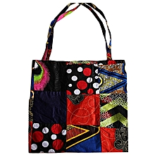 Patch Work [Red, Blue, Green, Purple, Pink ,Yellow, Black, White ,Orange] Tote/Shopping Bag