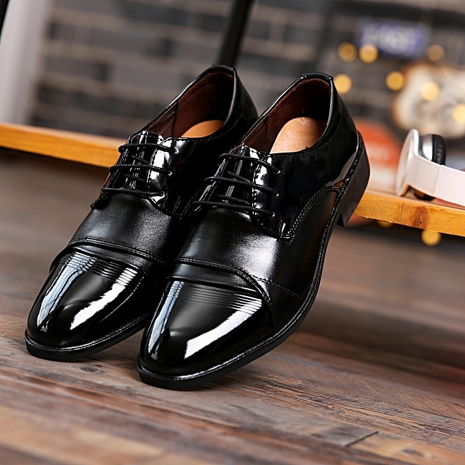 76ba90f95bd Generic Men s Black Business Leather Shoes Groom Wedding Shoes ...