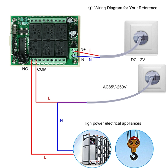 2 Channel Rf Remote Control Circuit Diagram