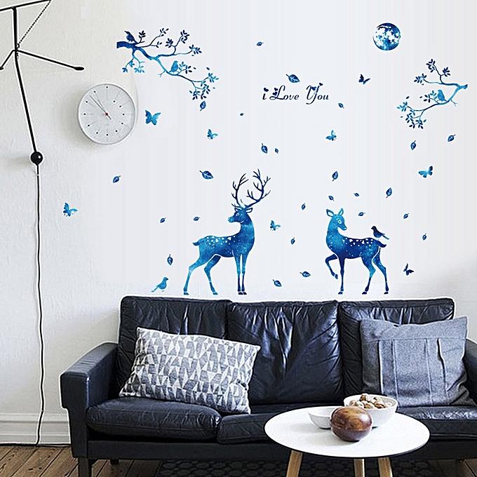 Buy Neworldline DIY Silhouettes Decoration Decal Stickers Bedroom ...