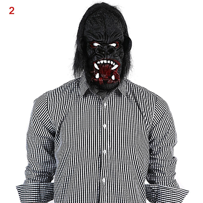 the open mouth gorilla with big ears mask for halloween costume