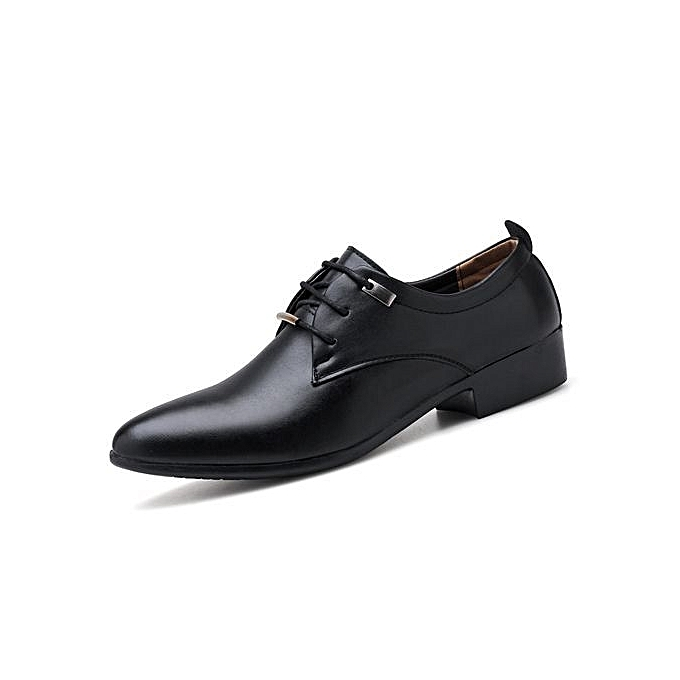Tauntte Office Formal Shoes Men Point Casual Party Shoes Black
