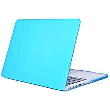 """15"""" Pro With HDMI Port Case, Matt Hard Rubberized Cover For 2012-2015 Macbook 15.4 Retina, Turquoise"""