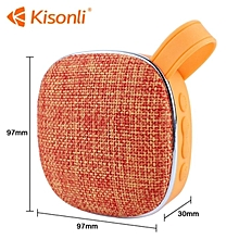 Portable Bluetooth Speaker Woofer FM radio soft fabric- orange