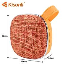Portable Bluetooth Speaker Woofer FM radio soft fabric- orange