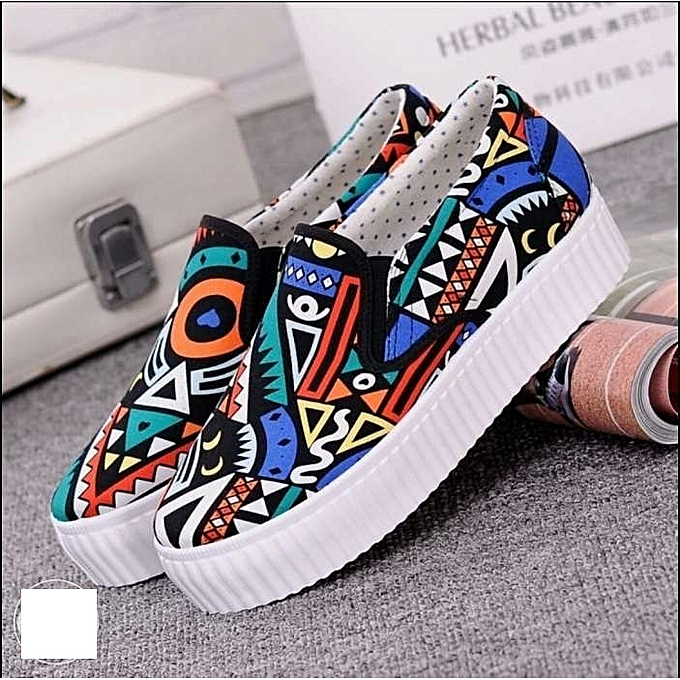 f9aa7541830 Generic Fancy ladies Canvas Shoes- Multi-colored @ Best Price Online ...