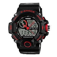 1029 Sports Men Watches LED Digital Watch Fashion Brand Outdoor 50M Waterproof Military Wristwatch - Red